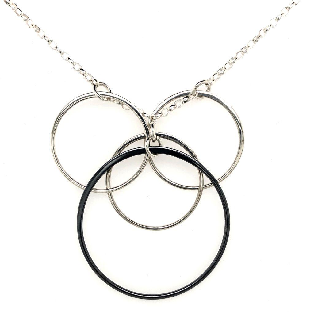 "Image Description of ""Multi Circles Necklace""."