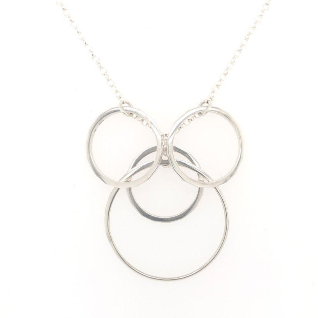 "Image Description of ""Sterling Silver Multi Circles Necklace""."